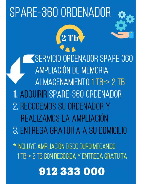 Servicio Spare360 Ordenador 2 Tb