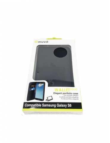 Funda Portfolio Bolsillo Tarjetas Telefono Samsung Galaxy S6