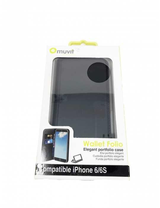 Funda Portfolio Bolsillo Tarjetas Iphone 6 6S