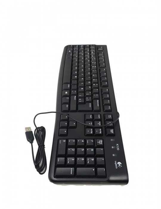 Teclado con Cable USB Negro Logitech K120