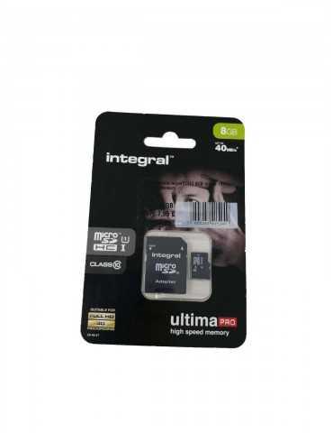 Memoria Micro SD HC Integral 8GB INMSDH8G10-40U1