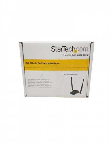 Adaptador WiFi USB Doble Banda 802.11n StarTech USB300WN2X2D