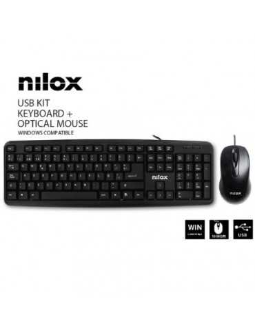 KIT USB NILOX - TECLADO + RATÓN ÓPTICO