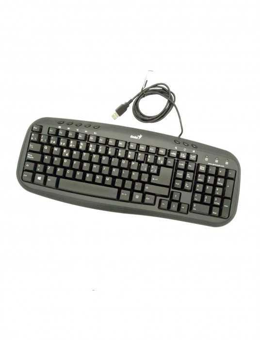 Teclado USB Genius KB-M200 ESP Negro