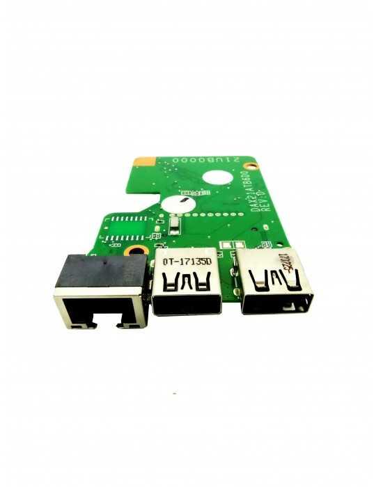Placa USB - Lector de tarjeta SD - LAN Original HP 15-AB