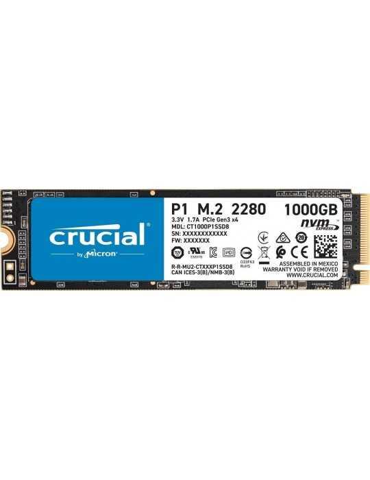 CT1000P1SSD8 Disco Duro SSD 1 TB / 3D NAND, NVMe, PCIe, M.2