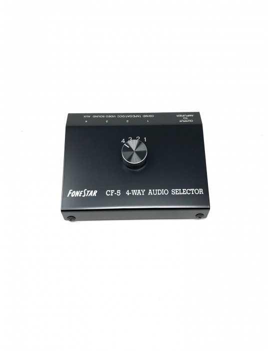 Selector de Audio de 4 Entradas FoneStar CF-5