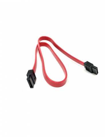 Cable Disco Duro SATA III Rojo Conector Recto