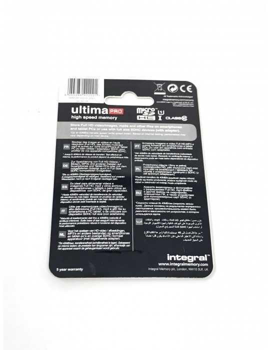 Tarjeta Memoria Micro SDHC 16 GB clase 10 Marca Integral