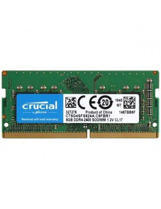 CT8G4SFS824A - Memoria RAM 8GB DDR4 2400 MT/S CL17 SR X8