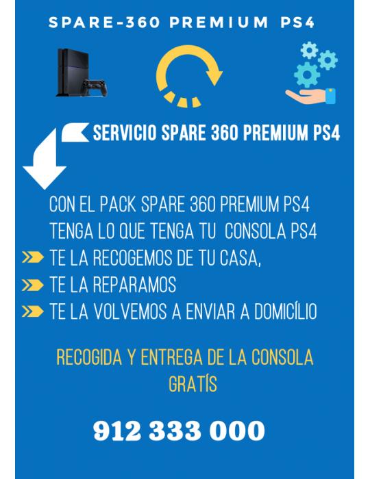 Servicio Reparación Videoconsola PS4 Spare 360 Premium