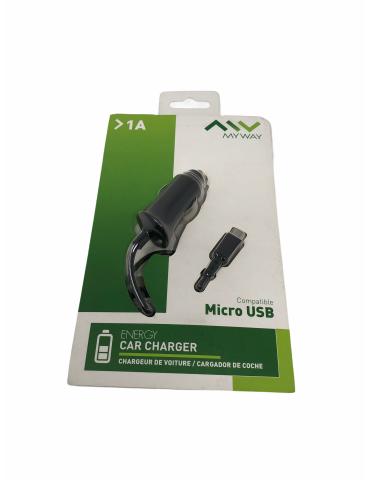 Cargador Coche MyWay Micro Usb Negro 1000mA 5V 9901009