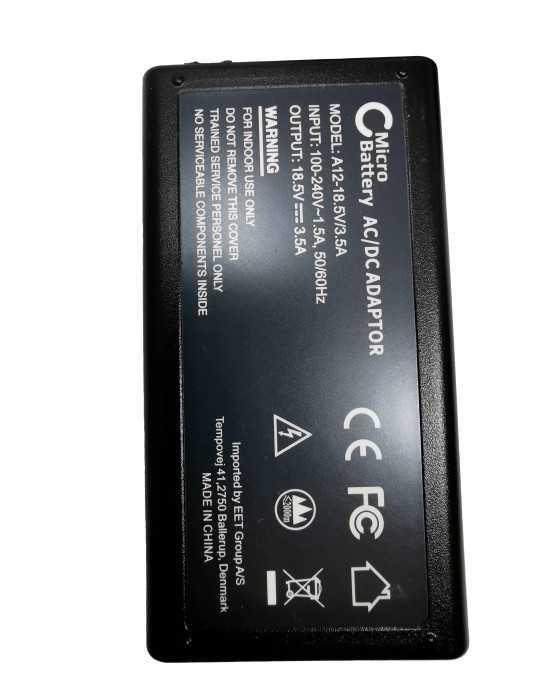 Cargador compatible Hp MBXHP-AC0011 65W 18,5V 3,5A