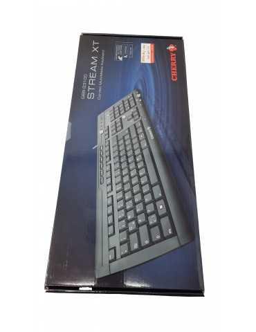 Teclado Español Negro Con Cable Cherry Stream XT G85-23100